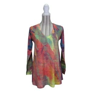 Soft Surroundings Plein De Couleurs Size XS Tunic